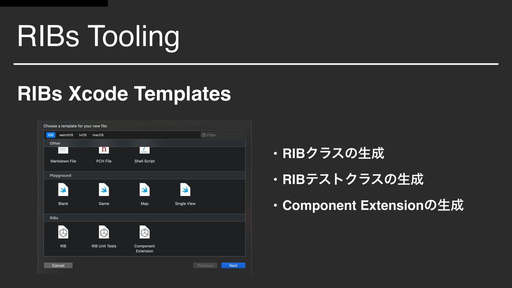 RIBs Tooling RIBs Xcode Templates • RIBΫϥεͷੜ •...