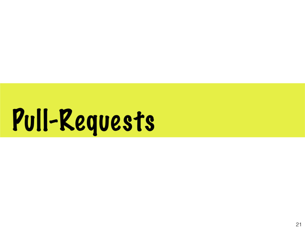 Pull-Requests 21
