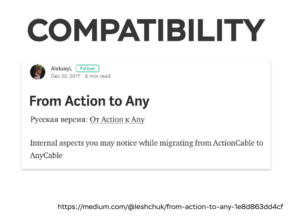 COMPATIBILITY https://medium.com/@leshchuk/from...