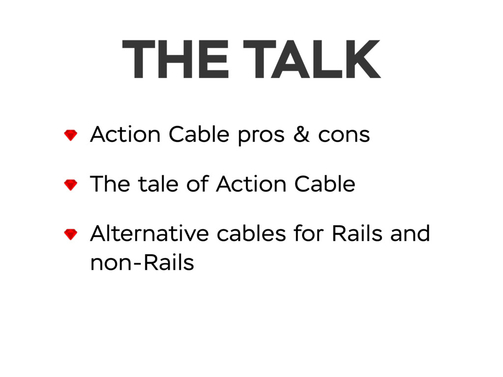 THE TALK Action Cable pros & cons The tale of A...