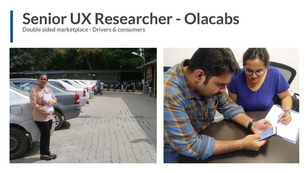 Senior UX Researcher - Olacabs Double sided mar...