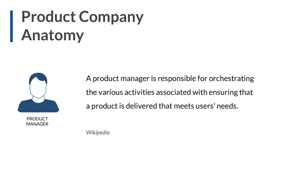 Product Company Anatomy A product manager is re...