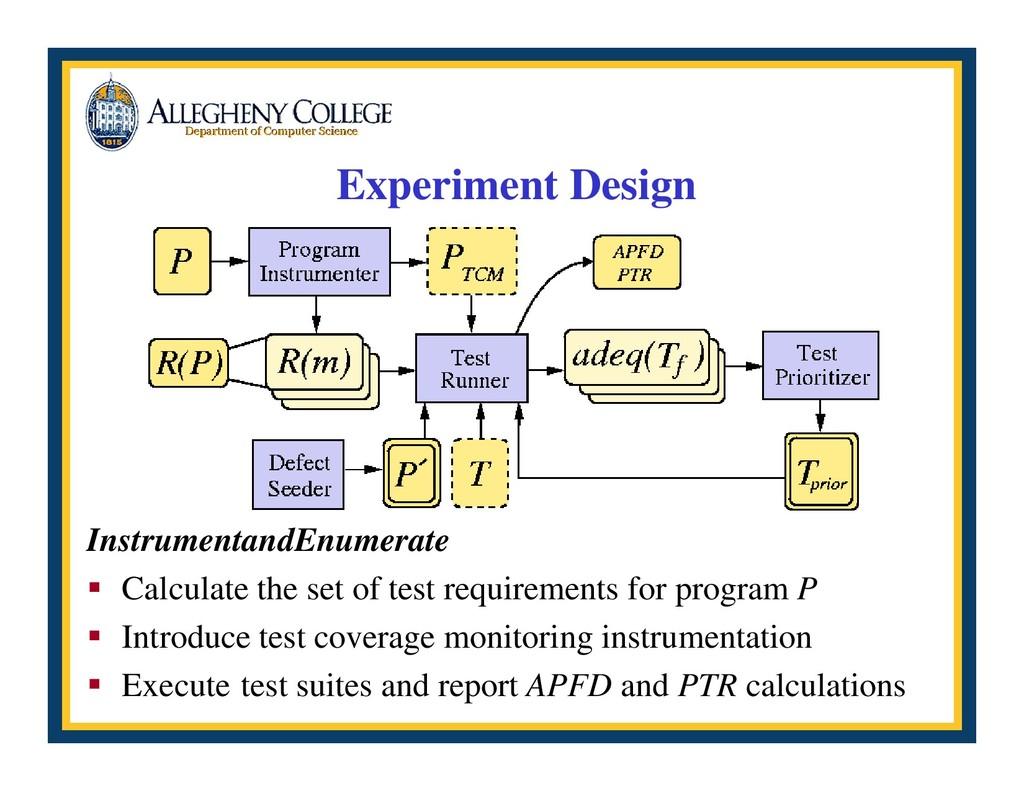 Experiment Design InstrumentandEnumerate ƒ Calc...