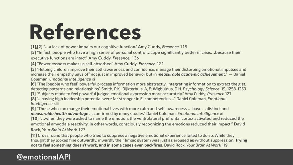 "@emotionalAPI References [1],[2] ""…a lack of po..."