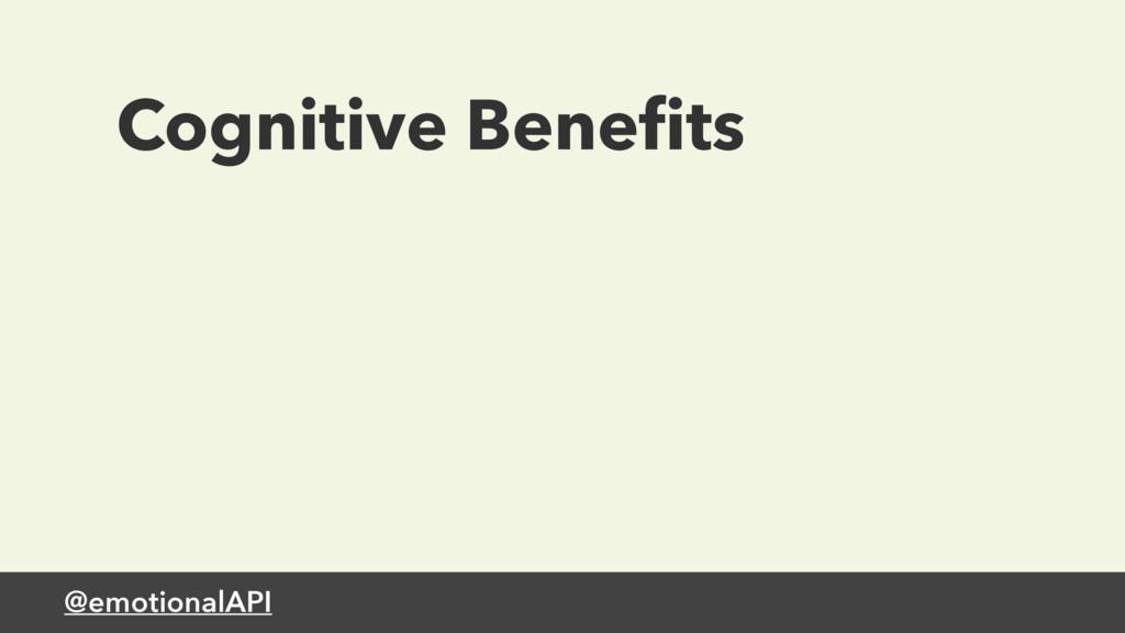 @emotionalAPI Cognitive Benefits