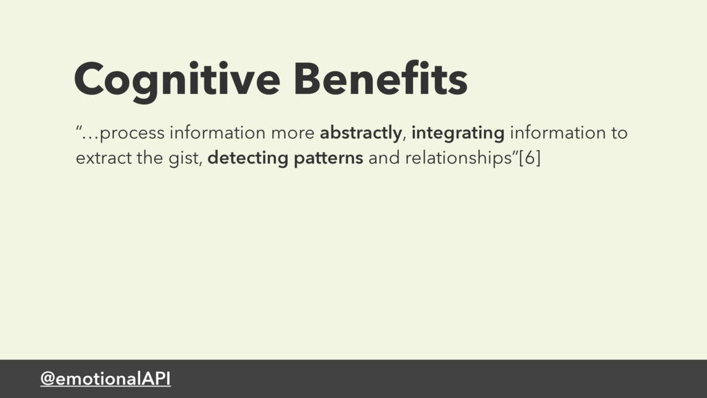 "@emotionalAPI Cognitive Benefits ""…process infor..."