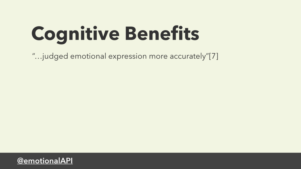 "@emotionalAPI Cognitive Benefits ""…judged emotio..."