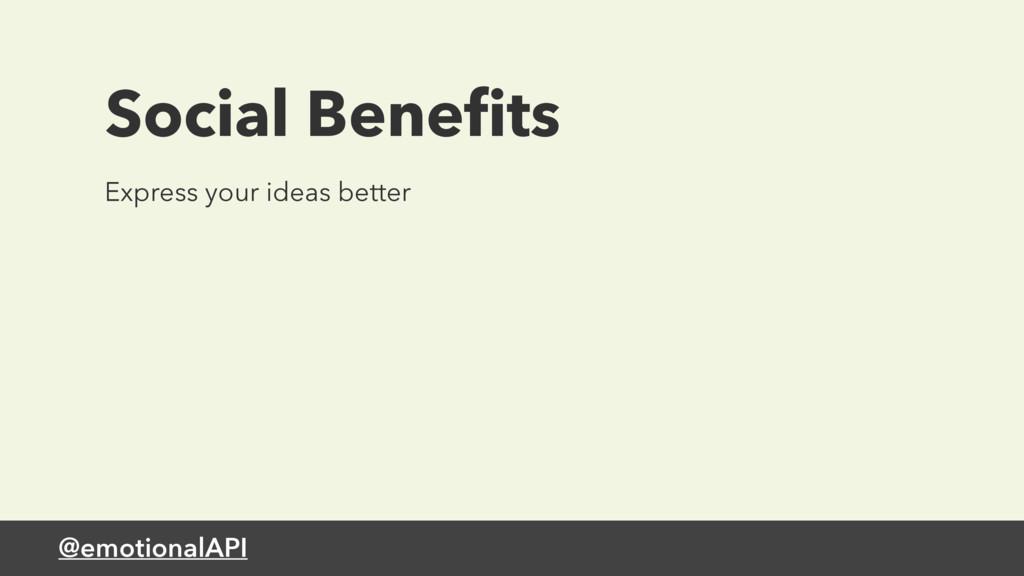 @emotionalAPI Express your ideas better Social ...