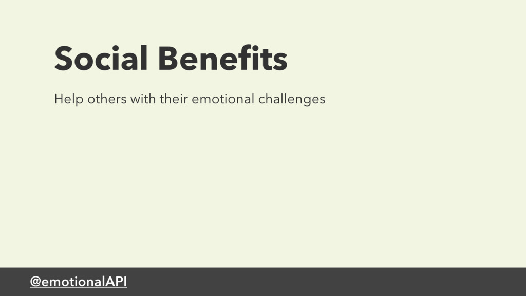 @emotionalAPI Help others with their emotional ...