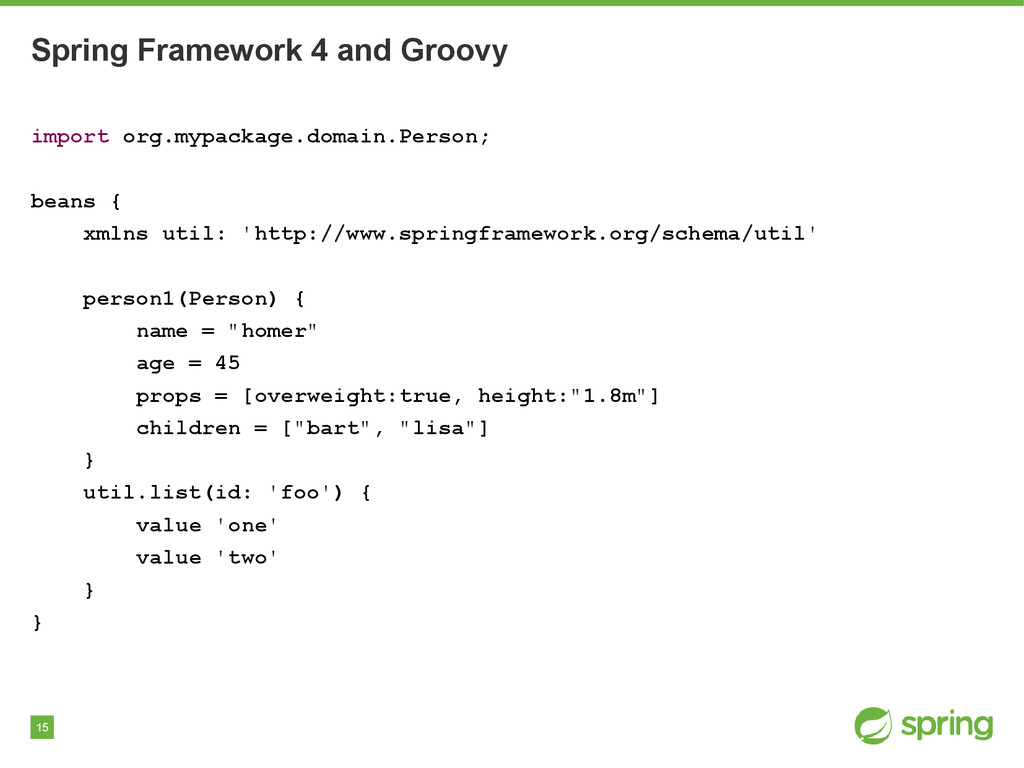 15 Spring Framework 4 and Groovy import org.myp...