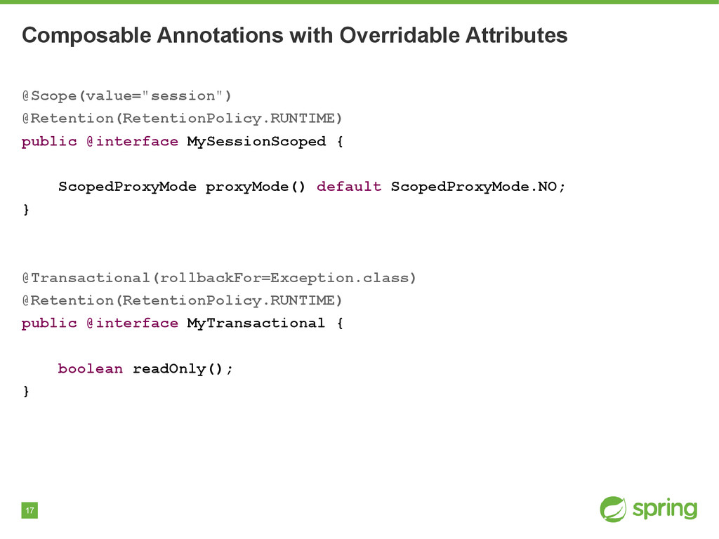 17 Composable Annotations with Overridable Attr...