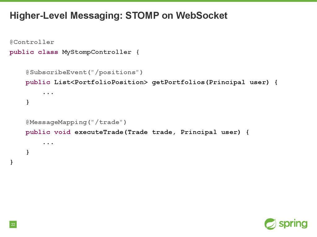 22 Higher-Level Messaging: STOMP on WebSocket @...