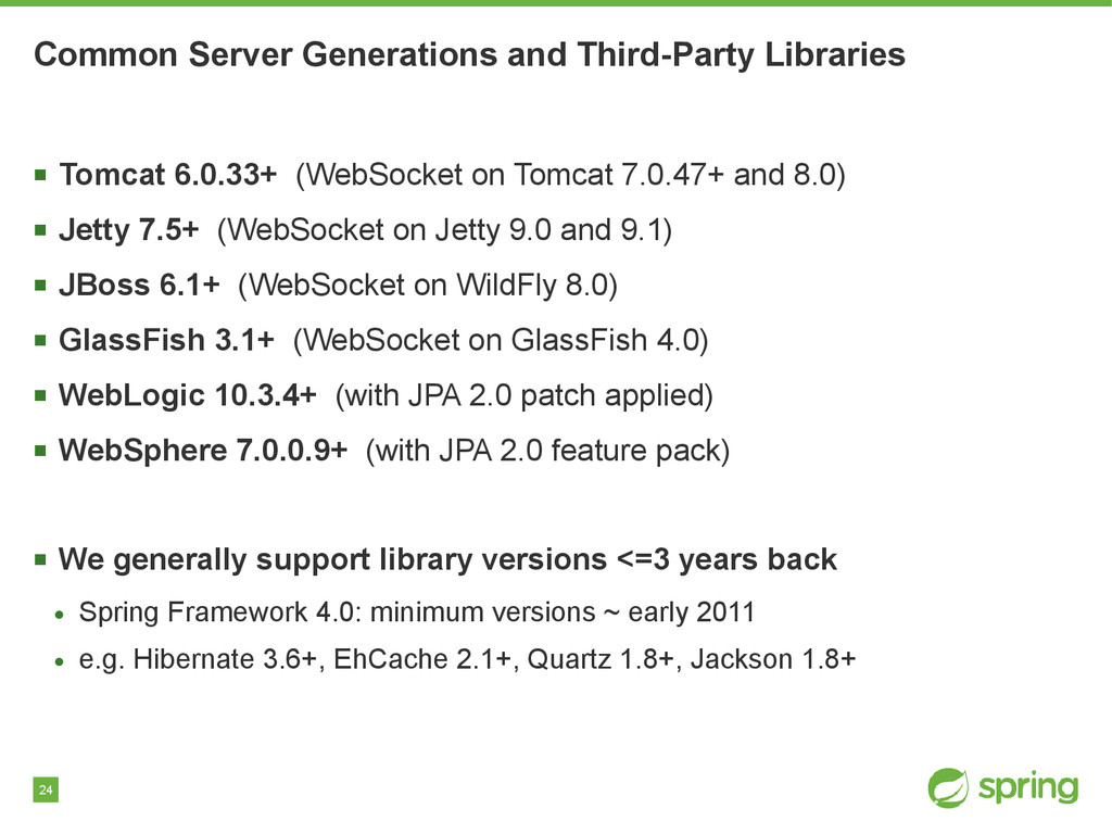 24 Common Server Generations and Third-Party Li...