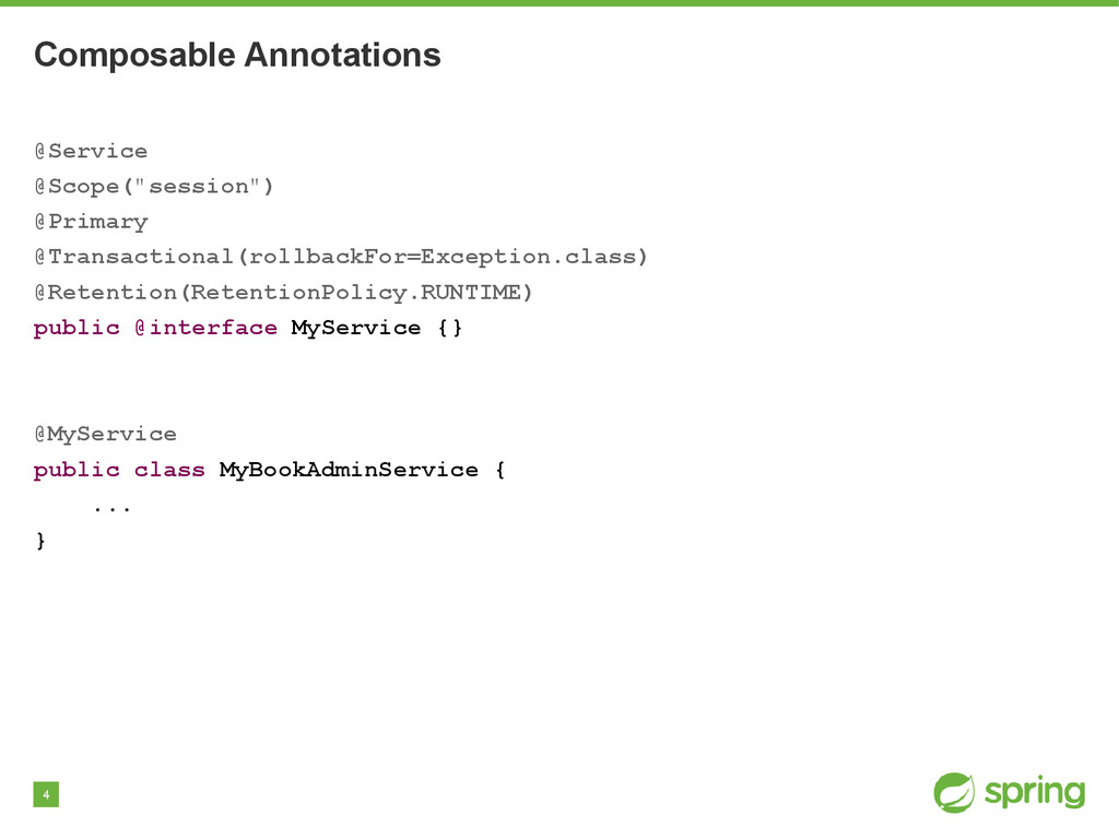 """4 Composable Annotations @Service @Scope(""""sessi..."""