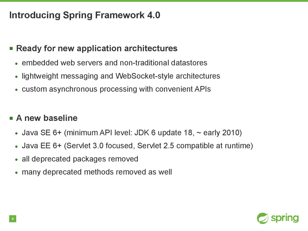 9 Introducing Spring Framework 4.0 ■ Ready for ...