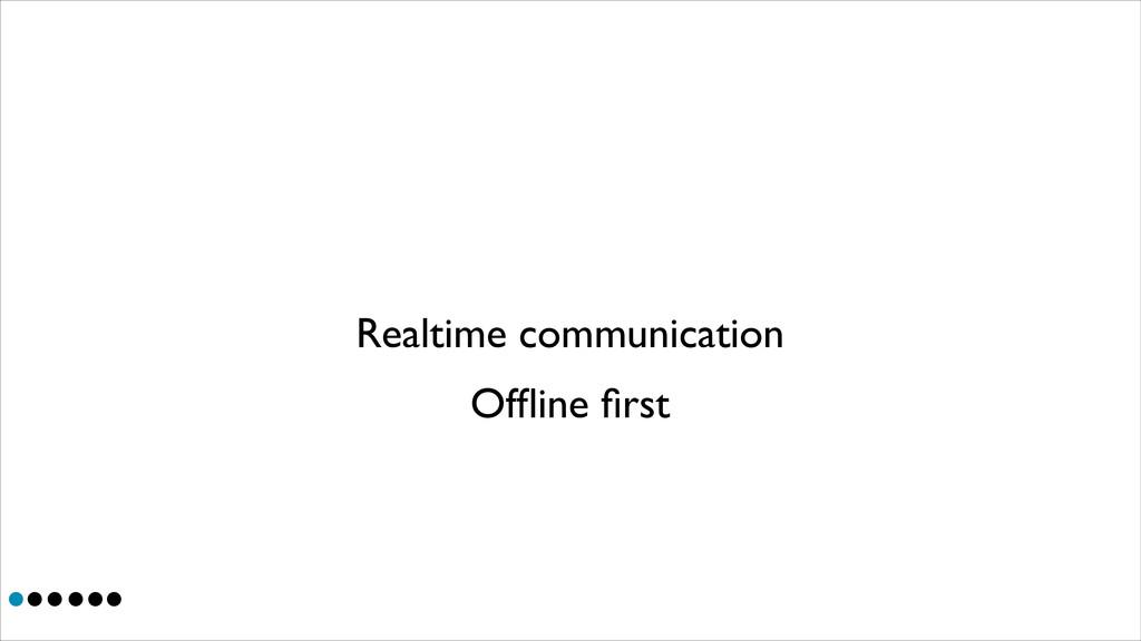 Realtime communication Offline first