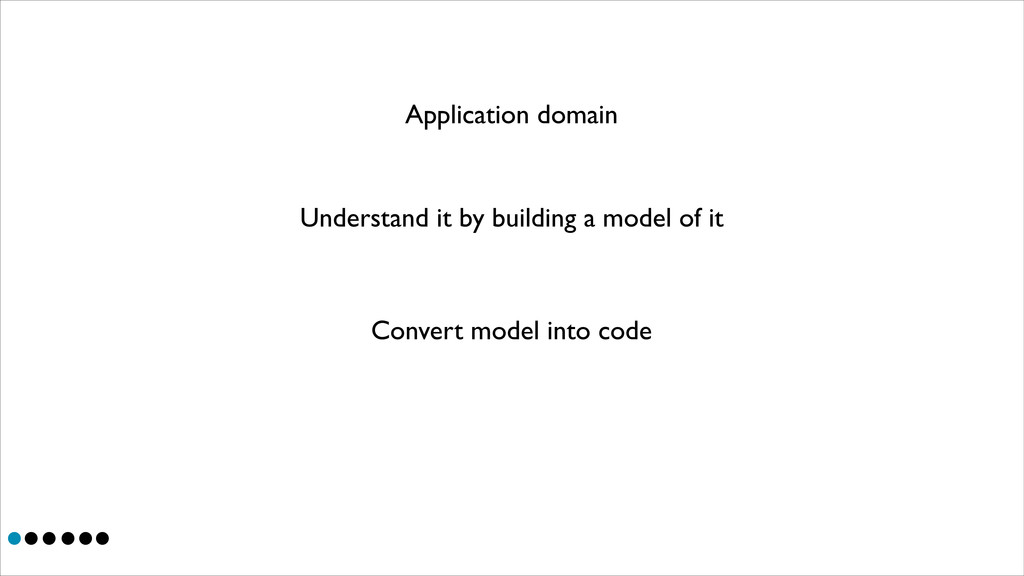 Application domain Understand it by building a ...