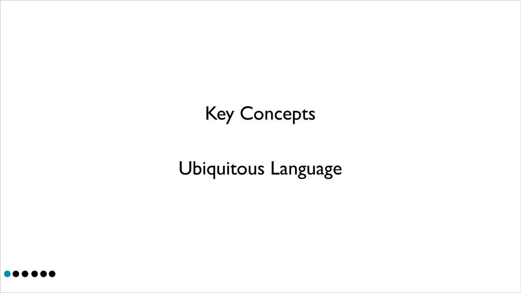 Key Concepts Ubiquitous Language