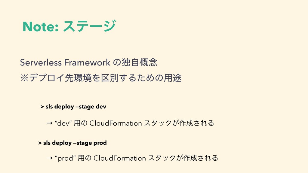 Serverless Framework ͷಠࣗ֓೦ ˞σϓϩΠઌڥΛ۠ผ͢ΔͨΊͷ༻్ ...