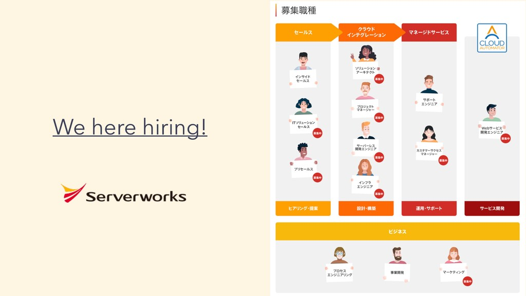 We here hiring!
