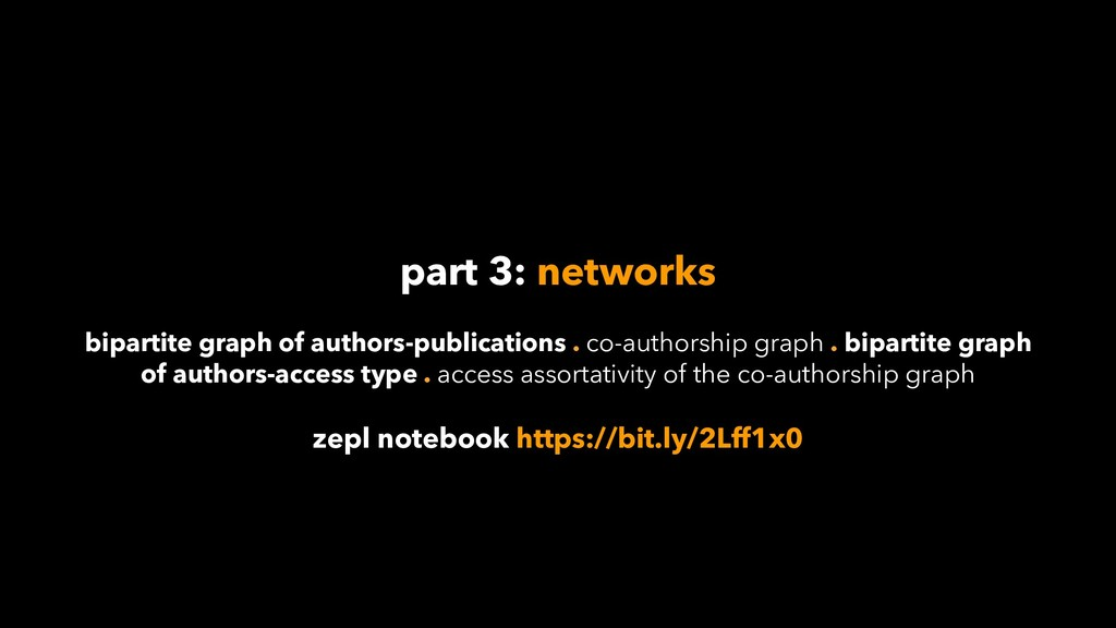 part 3: networks bipartite graph of authors-pub...