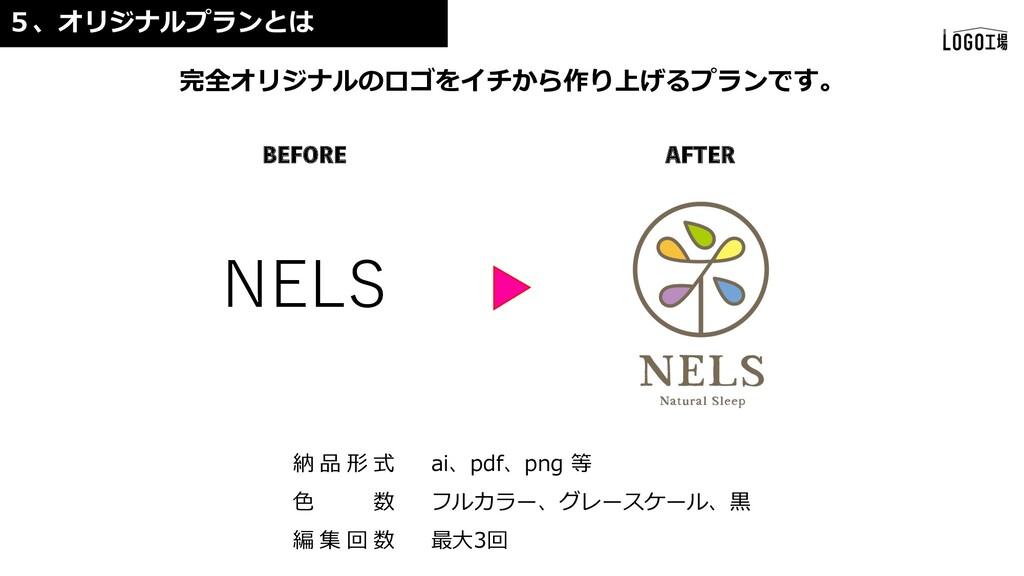 NELS 完全オリジナルのロゴをイチから作り上げるプランです。 5、オリジナルプランとは #&...
