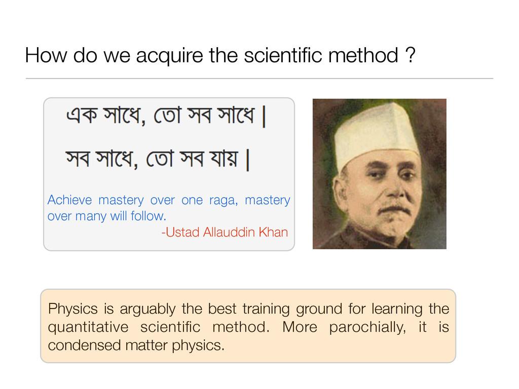 How do we acquire the scientific method ? Achiev...