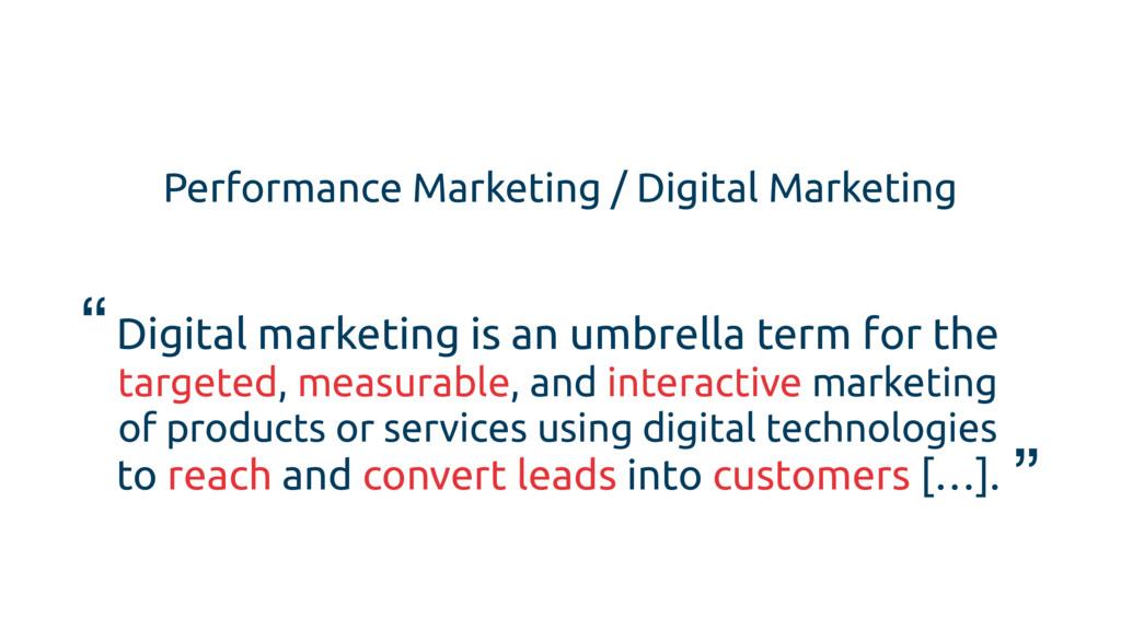 Performance Marketing / Digital Marketing Digit...