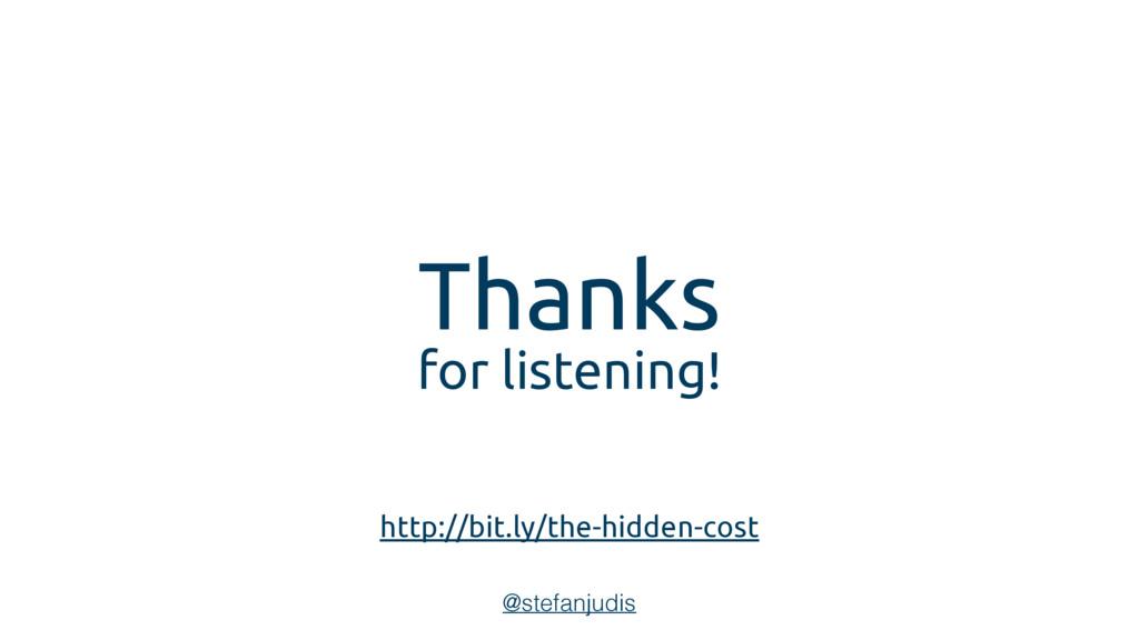 Thanks for listening! @stefanjudis http://bit.l...