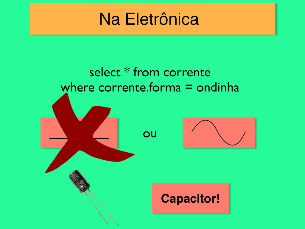 Na Eletrônica! select * from corrente 	 