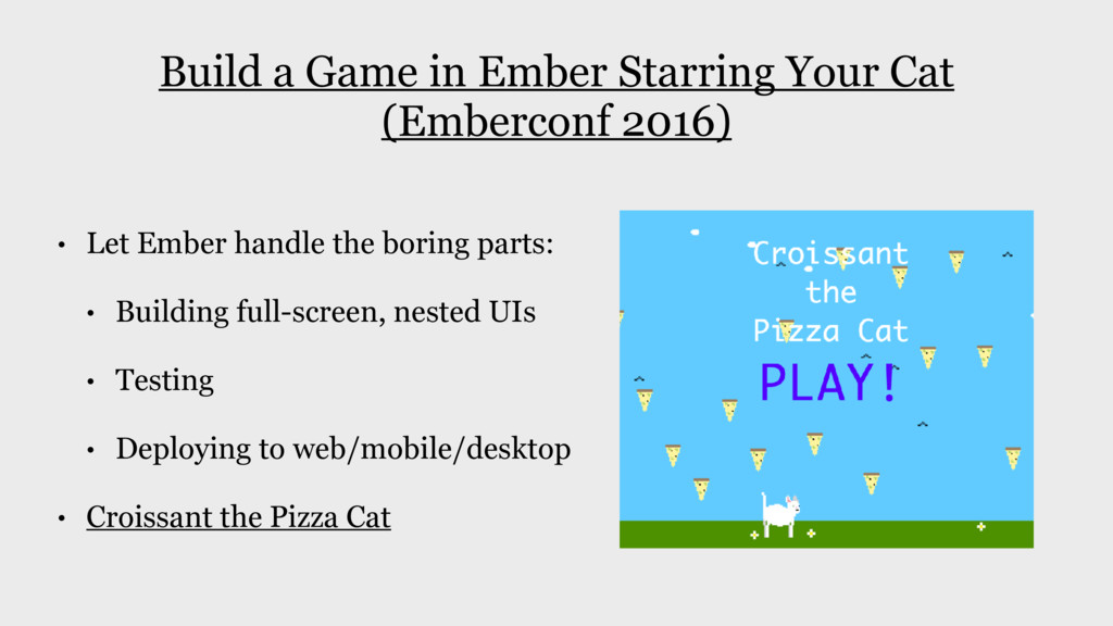 Build a Game in Ember Starring Your Cat (Emberc...