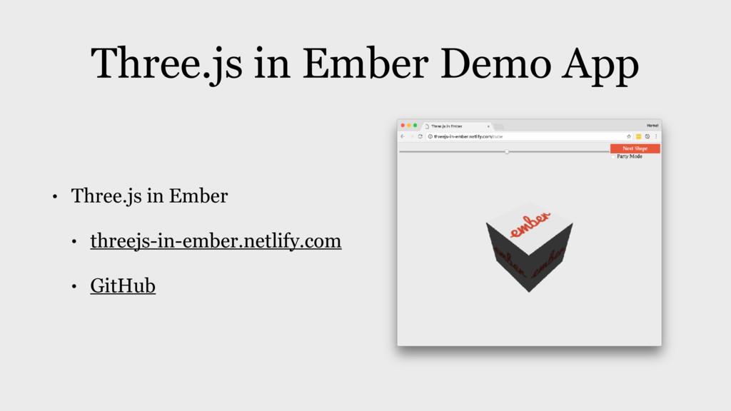 Three.js in Ember Demo App • Three.js in Ember ...