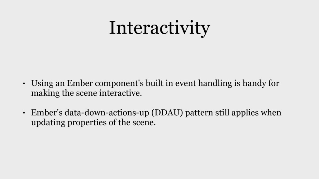 Interactivity • Using an Ember component's buil...