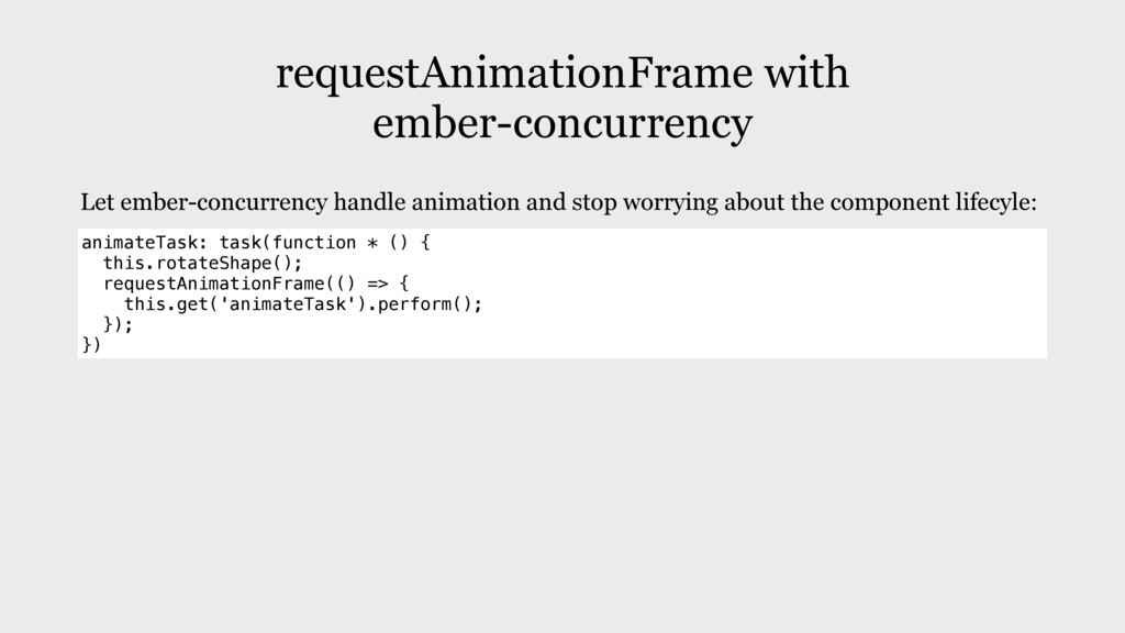 requestAnimationFrame with ember-concurrency an...