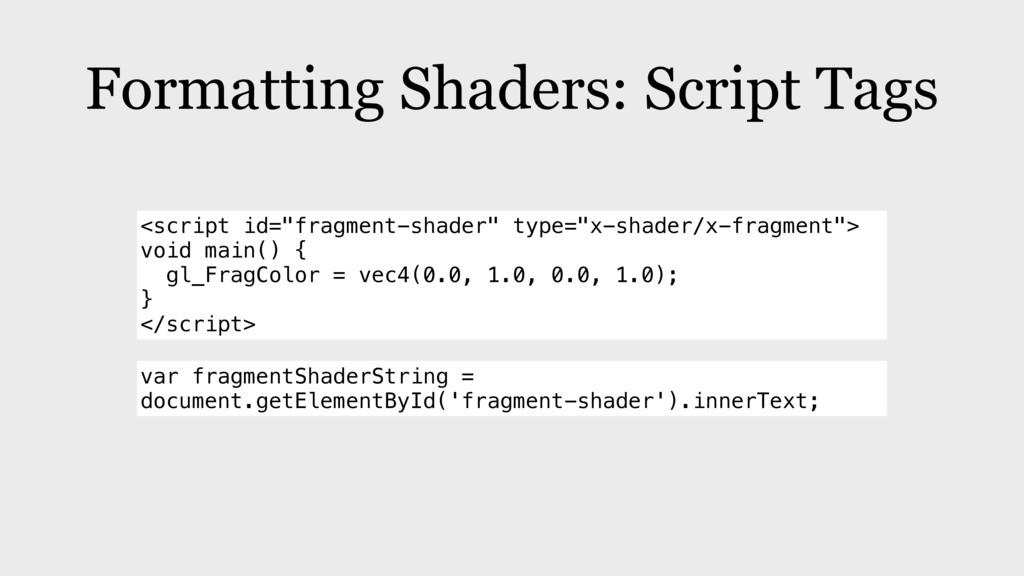 "Formatting Shaders: Script Tags <script id=""fra..."