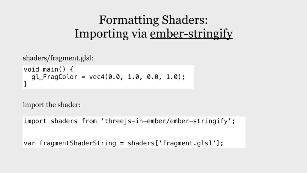 Formatting Shaders: Importing via ember-stringi...