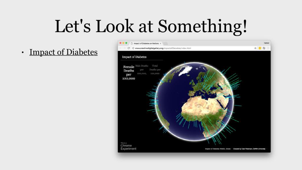 Let's Look at Something! • Impact of Diabetes