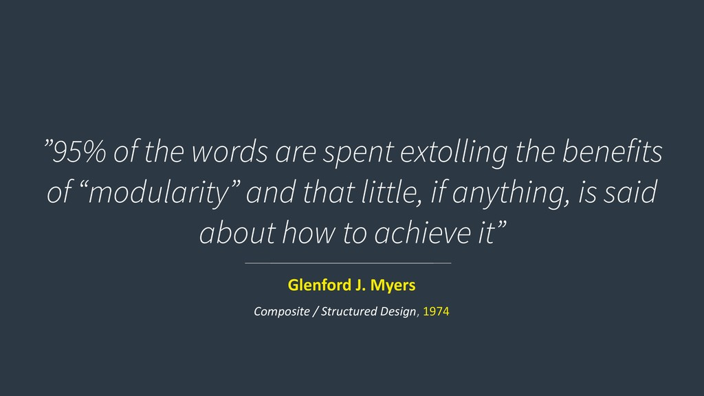 """""""95% of the words are spent extolling the benef..."""