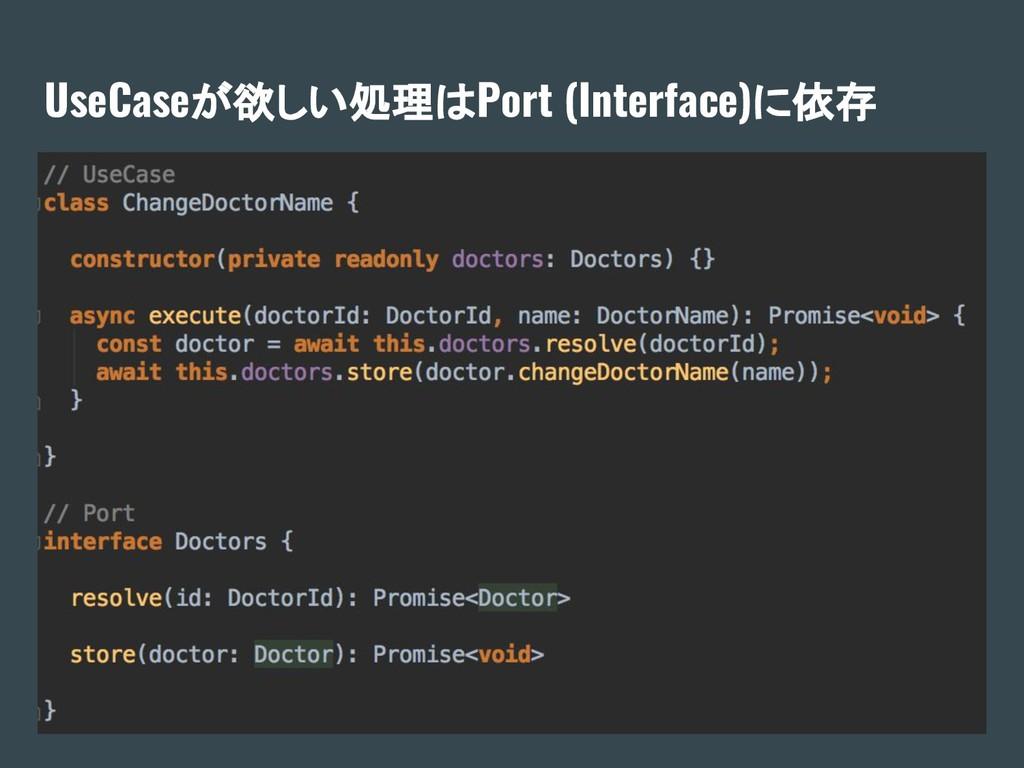 UseCaseが欲しい処理はPort (Interface)に依存