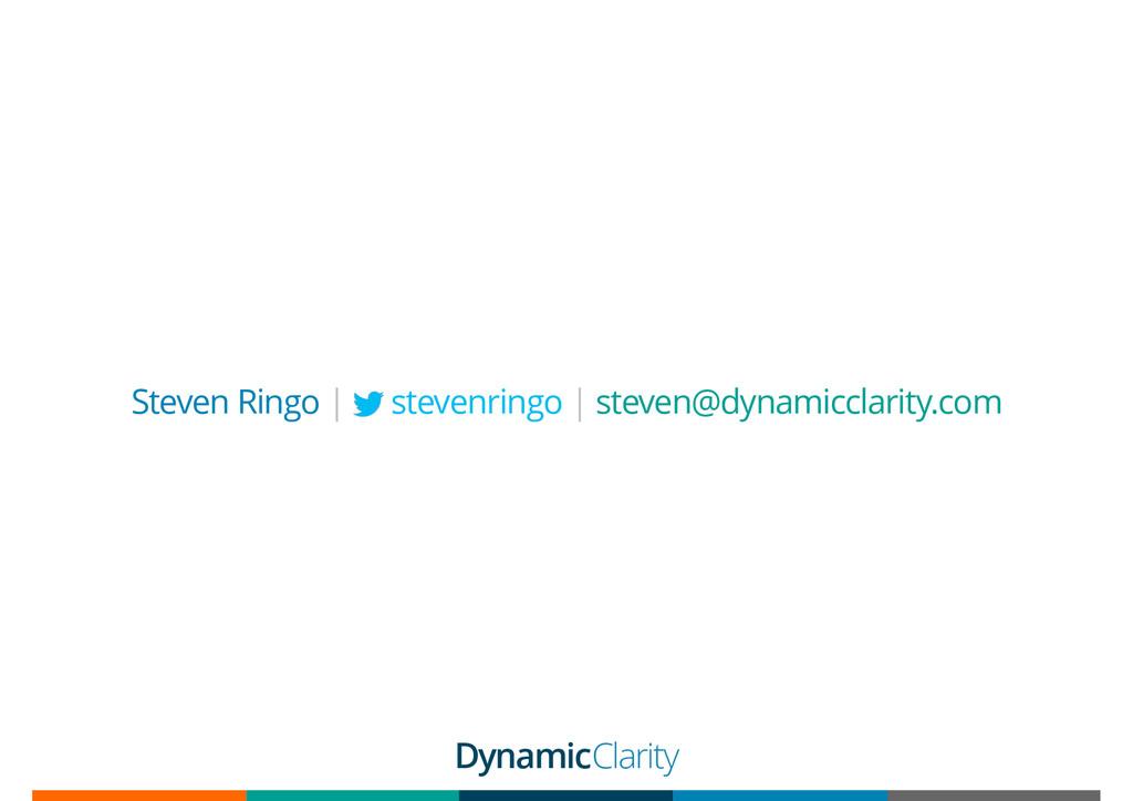 Steven Ringo | stevenringo | steven@dynamicclar...