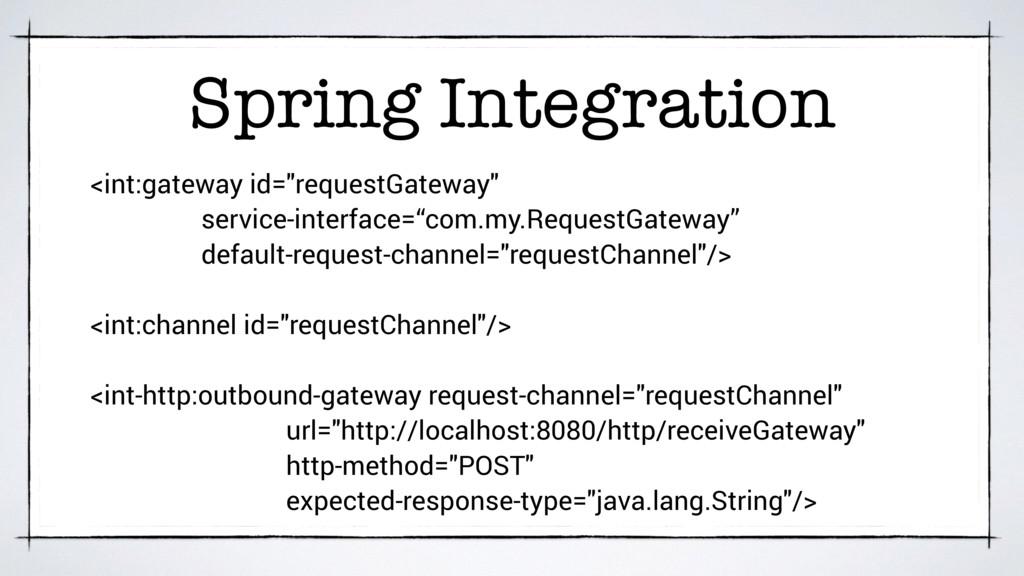 "Spring Integration <int:gateway id=""requestGate..."