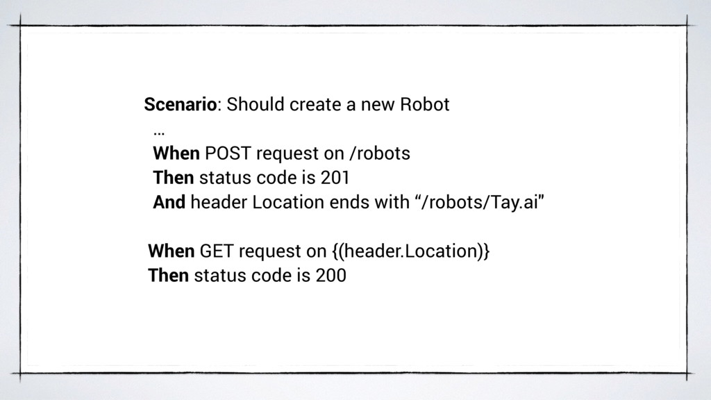 Scenario: Should create a new Robot … When POST...