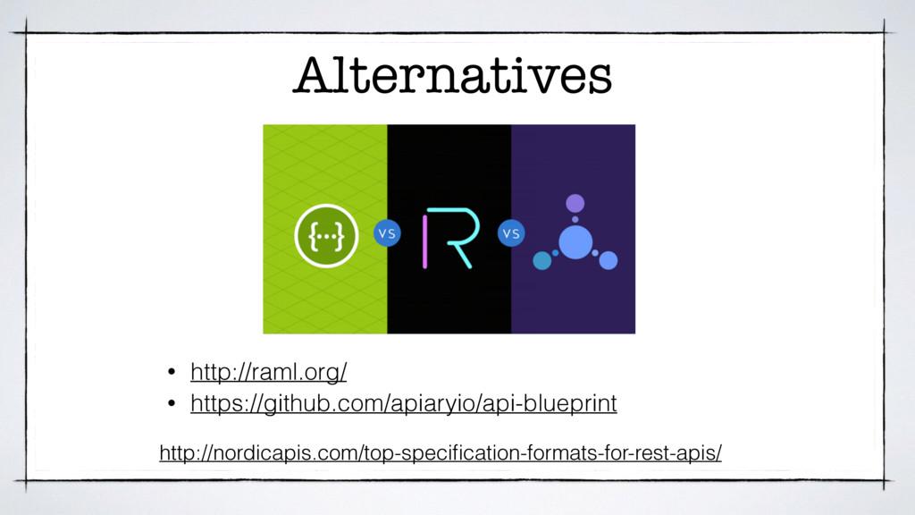 Alternatives http://nordicapis.com/top-specifica...