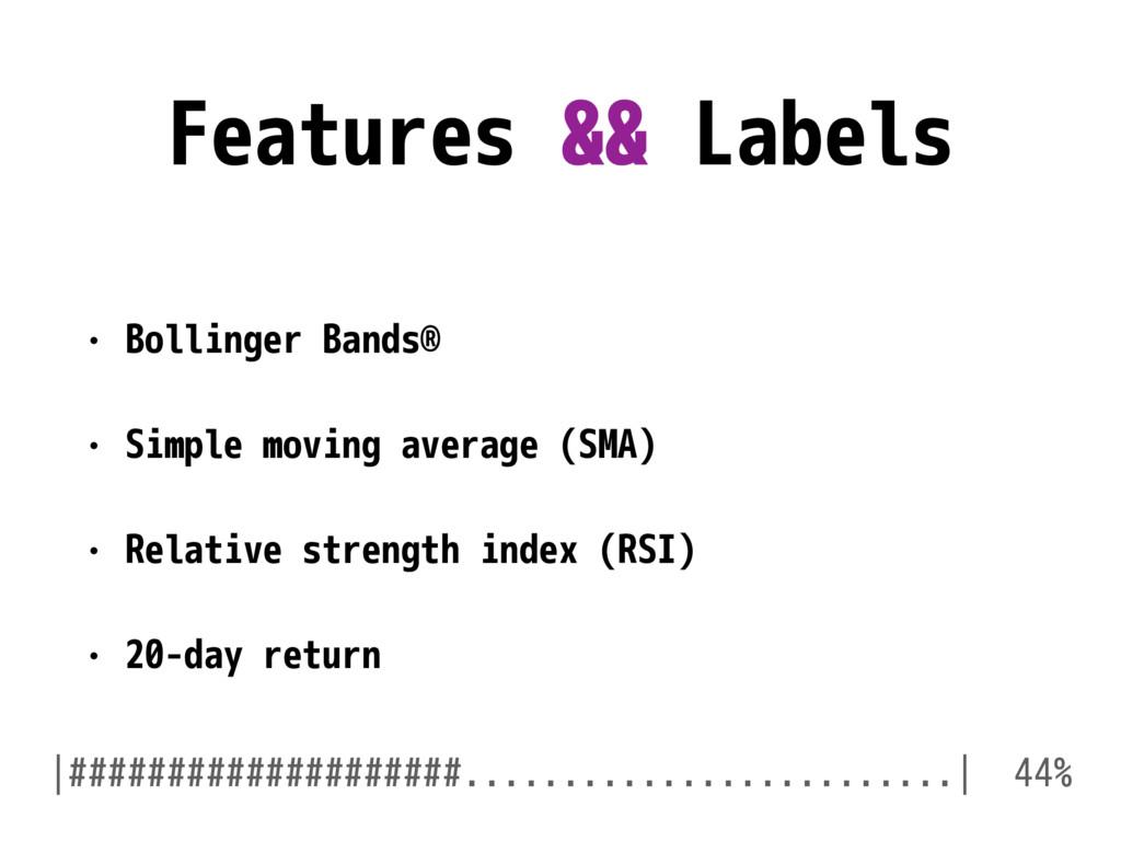 Features && Labels • Bollinger Bands® • Simple ...