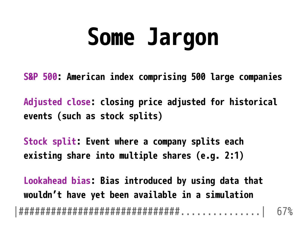 Some Jargon S&P 500: American index comprising ...