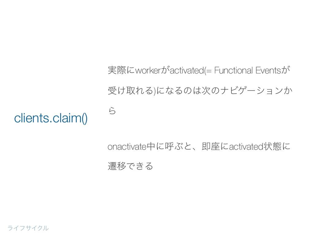࣮ࡍʹworker͕activated(= Functional Events͕ ड͚औΕΔ)...