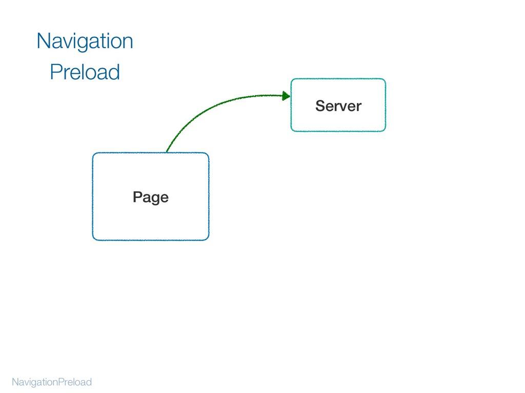 NavigationPreload Navigation Preload Page Server