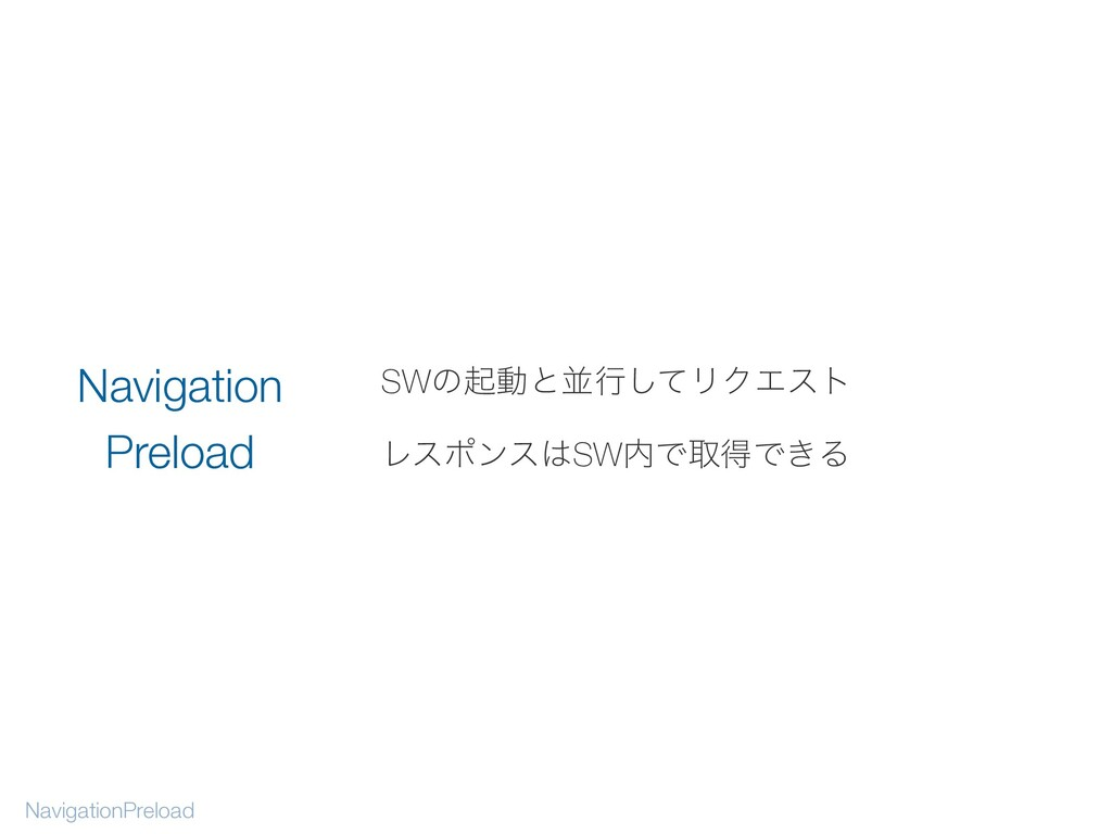 SWͷىಈͱฒߦͯ͠ϦΫΤετ ϨεϙϯεSWͰऔಘͰ͖Δ NavigationPrelo...