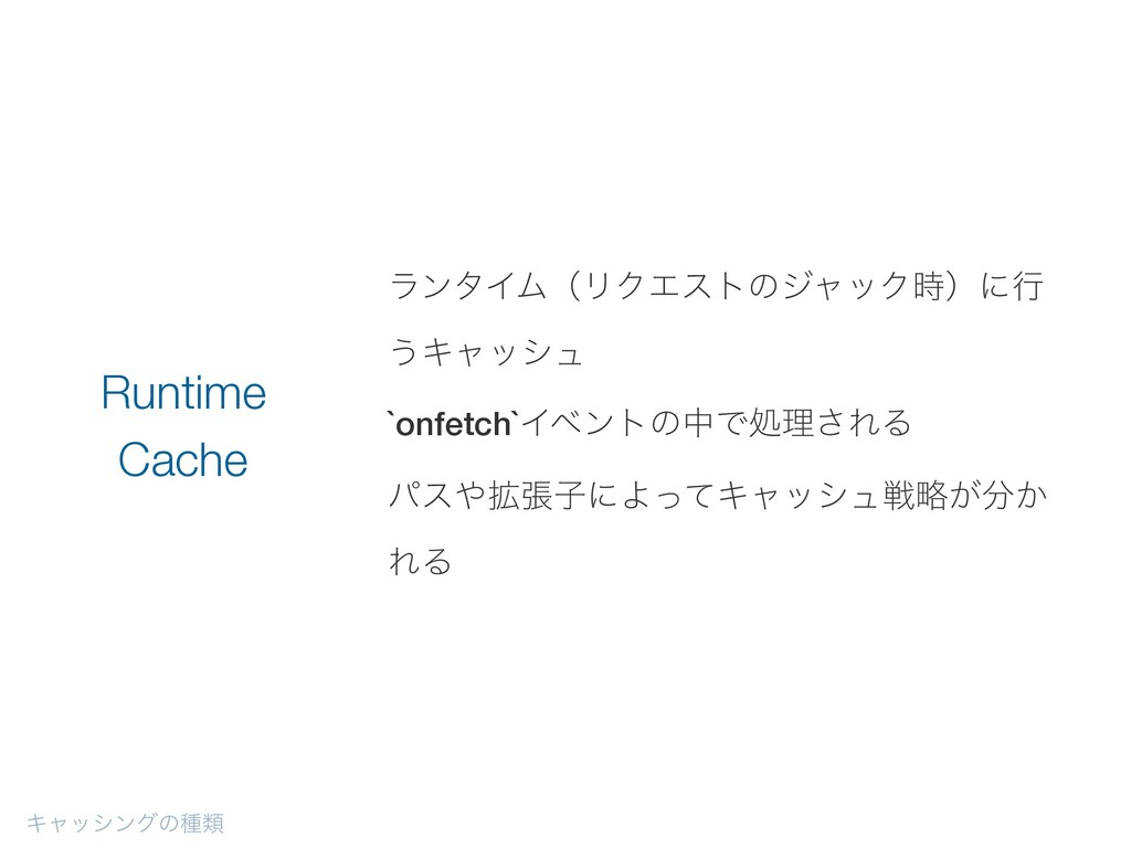 ϥϯλΠϜʢϦΫΤετͷδϟοΫʣʹߦ ͏Ωϟογϡ `onfetch`ΠϕϯτͷதͰॲཧ͞...