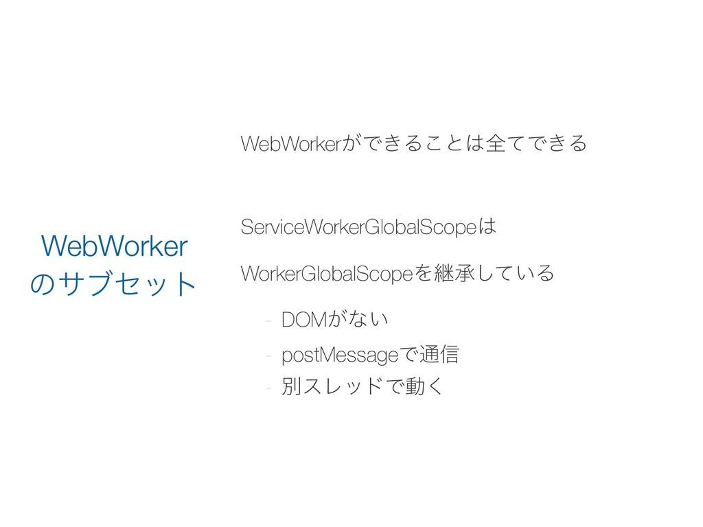 WebWorker͕Ͱ͖Δ͜ͱશͯͰ͖Δ ServiceWorkerGlobalScope...
